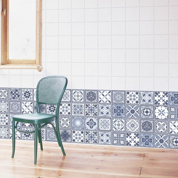 Samolepilna tapeta Lizbonske modre ploščice (24x 10x10 cm)