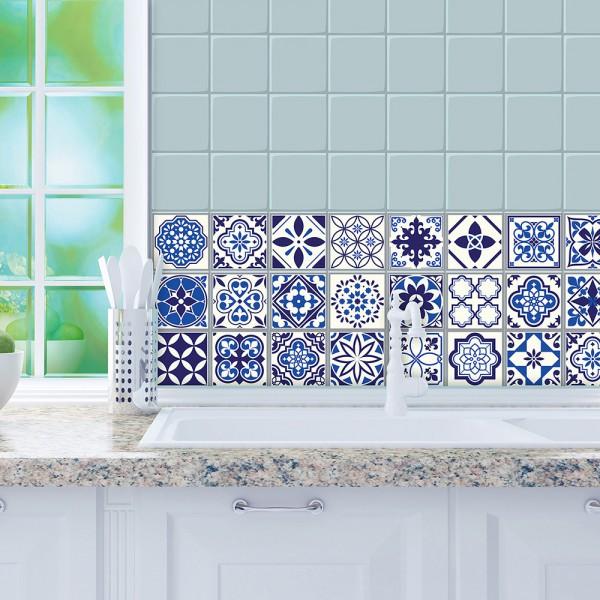 Samolepilna tapeta Maroške modre ploščice (24x 10x10 cm)