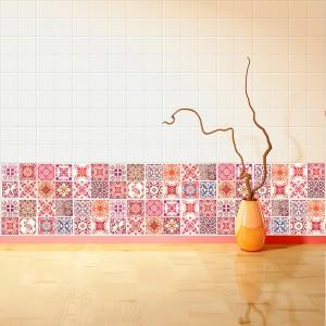 Samolepilna tapeta Rdeče maroške ploščice (24x 10x10 cm)