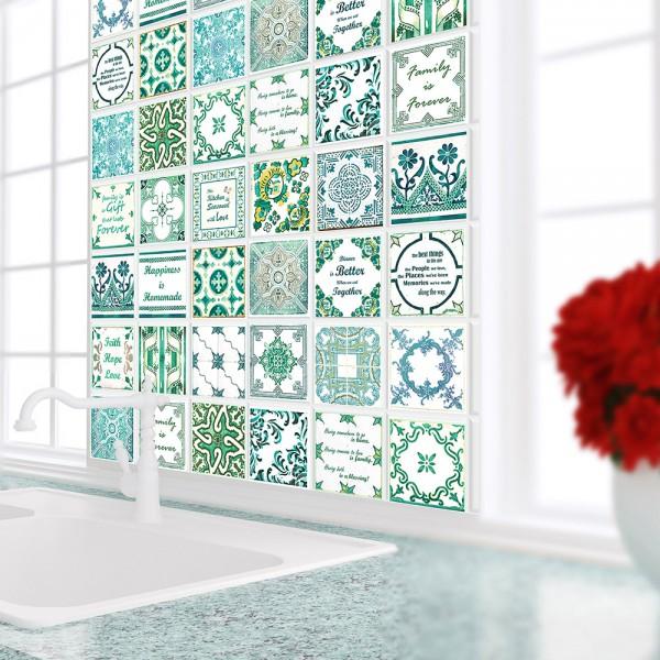 Samolepilna tapeta Zelene francoske ploščice (24x 10x10 cm)